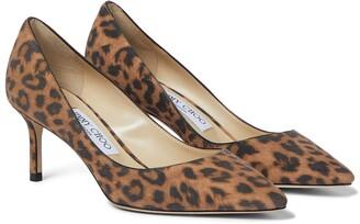 Jimmy Choo Romy 60 leopard-print suede pumps