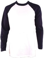 Knocker / Top Pro Knocker Men's Long Sleeve Baseball Raglan Shirt-White/Navy