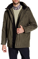 Kenneth Cole New York Bonded Midweight Fleece Collared Parka
