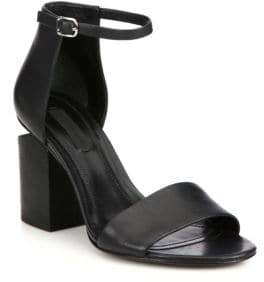 Alexander Wang Abby Tilt-Heel Leather Ankle-Strap Sandals