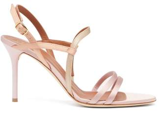 Malone Souliers Sage Satin Stiletto Sandals - Womens - Pink Multi