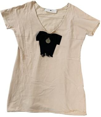 Elisabetta Franchi Beige Cotton Knitwear for Women