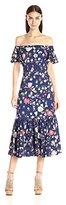 Rebecca Taylor Women's Off-The-Shoulder Tap Garden Dress