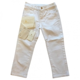 Gucci White Cotton Trousers