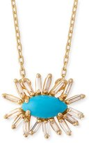 Suzanne Kalan Marquis Turquoise & Diamond Baguette Necklace