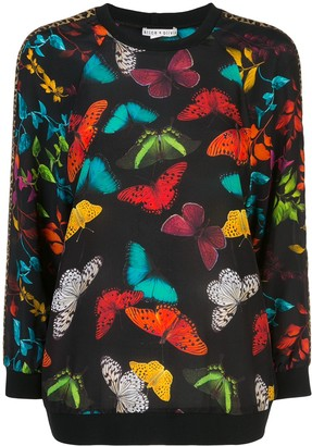 Alice + Olivia Calvin butterfly print sweater