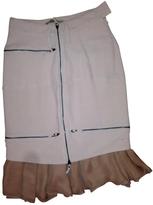 Balenciaga Pink Wool Skirt