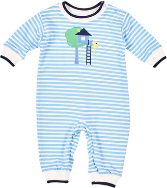 Florence Eiseman Treehouse & Monkey Stripe Coverall, Size 3-24 Months