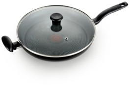 "T-Fal Culinaire Nonstick 13.25"" Family Fry Pan with lid"