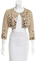 J. Mendel Embellished Suede Jacket
