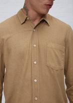 Our Legacy tan silk noil classic shirt