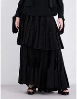 Antonio Berardi Layered silk-crepe maxi skirt