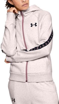 Under Armour Women's UA Fleece Taped Wordmark Full Zip Hoodie