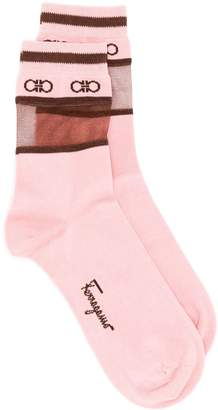 Salvatore Ferragamo logo socks