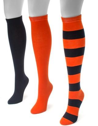 Muk Luks Adult Game Day 3-pk. Knee-High Socks