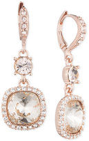 Givenchy Rose Gold-Tone Cushion Double Drop Earrings