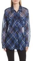 Rag & Bone Women's Mason Plaid Stretch Silk Shirt