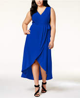 INC International Concepts I.n.c. Plus Size Faux-Wrap Maxi Dress, Created for Macy's