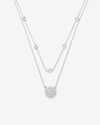 Express Double Row Circle Pendant Necklace