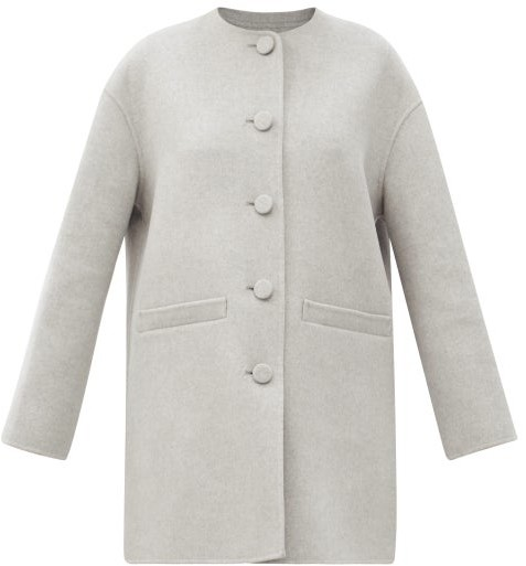 MARC JACOBS, RUNWAY Marc Jacobs Runway - Dropped-shoulder Felted Wool-blend Jacket - Light Grey