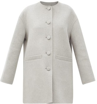 MARC JACOBS, RUNWAY Marc Jacobs Runway - Dropped-shoulder Felted Wool-blend Jacket - Light Grey