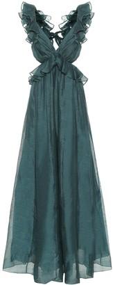 Zimmermann Ladybeetle linen and silk gown