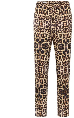 Dries Van Noten Leopard-print straight pants