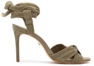 Schutz self-tie knot detail sandals