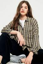 Urban Outfitters Crinkle Checked Button-down Shirt