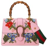 Gucci Small Dionysus Top Handle Leather Shoulder Bag - Pink