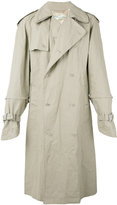 Off-White scorpion trench - men - Linen/Flax/Acrylic/Viscose - S