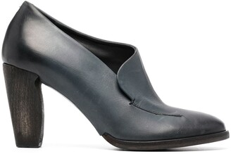 Del Carlo Slip-On Heeled Leather Pumps