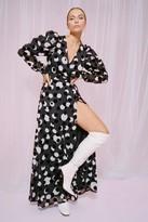 Nasty Gal Womens Wanna Dance Baby Polka Dot Maxi Dress - black - 6, Black