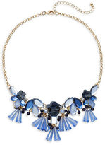 Expression Denim Flower Frontal Necklace