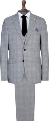 Dorothy Perkins Womens **Burton Grey Highlight Check Slim Fit Suit Jacket, Grey