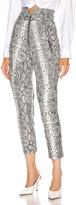 Marissa Webb Josh Leather Print Pant in Grey Python   FWRD