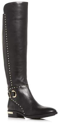 Vince Camuto Women's Poppidal Studded Low-Heel Boots
