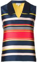 Suno striped V-neck top