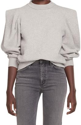 AGOLDE Folded-Sleeve Cotton Sweatshirt