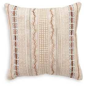 Mitchell Gold Bob Williams Mitchell Gold + Bob Williams Hand Blocked Printed Stripe & Chenille Accent Decorative Pillow, 20 x 20