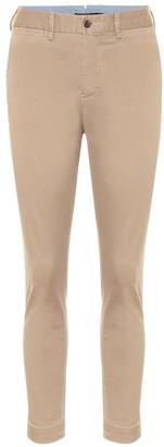 Stretch cotton-blend skinny pants