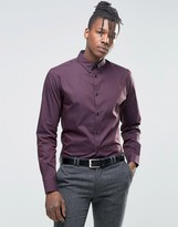 Selected Formal Shirt with Button Down Collar