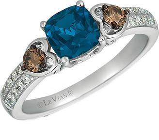 LeVian Le Vian 14K 1.32 Ct. Tw. Diamond & Topaz Ring