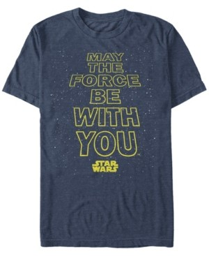 Star Wars Men's Classic May The Force Be With You Short Sleeve T-Shirt