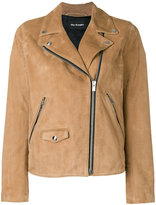 The Kooples suede biker jacket - women - Lamb Skin/Acetate/Polyester - S
