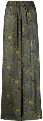 UMA WANG Floral Print Trousers