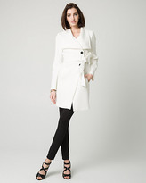 Le Château Double Weave Open Collar Wrap Coat