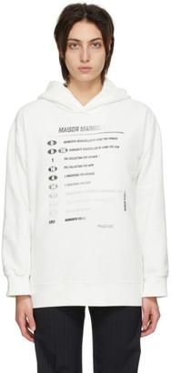 MM6 MAISON MARGIELA White Motocross Logo Hoodie