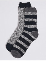 M&S Collection 2 Pairs of Assorted Bed Socks