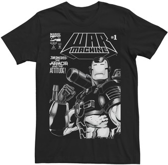 Marvel Men's War Machine Number 1 Comic Cover Tee